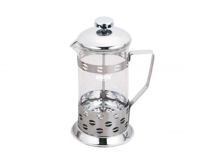 Френч-пресс Bekker BK-366 0.6 л металл/стекло серебристый френч пресс bekker deluxe 0 6 л bk 364