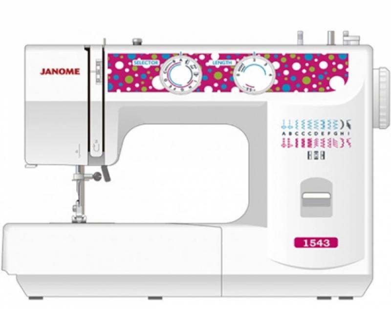 цена Швейная машина Janome 1543 белый онлайн в 2017 году