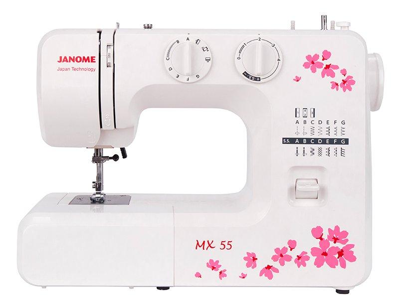 Швейная машина Janome MX 55 белый цена