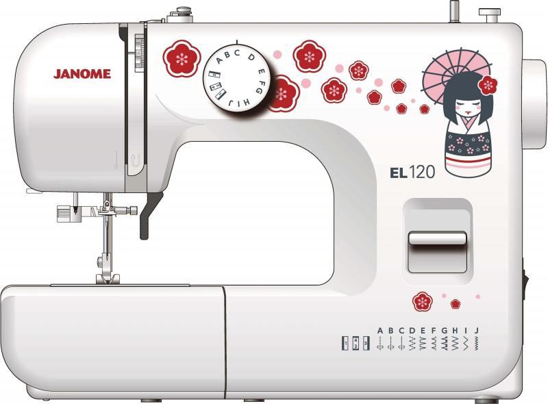 лучшая цена Швейная машина Janome EL120 белый/рисунок