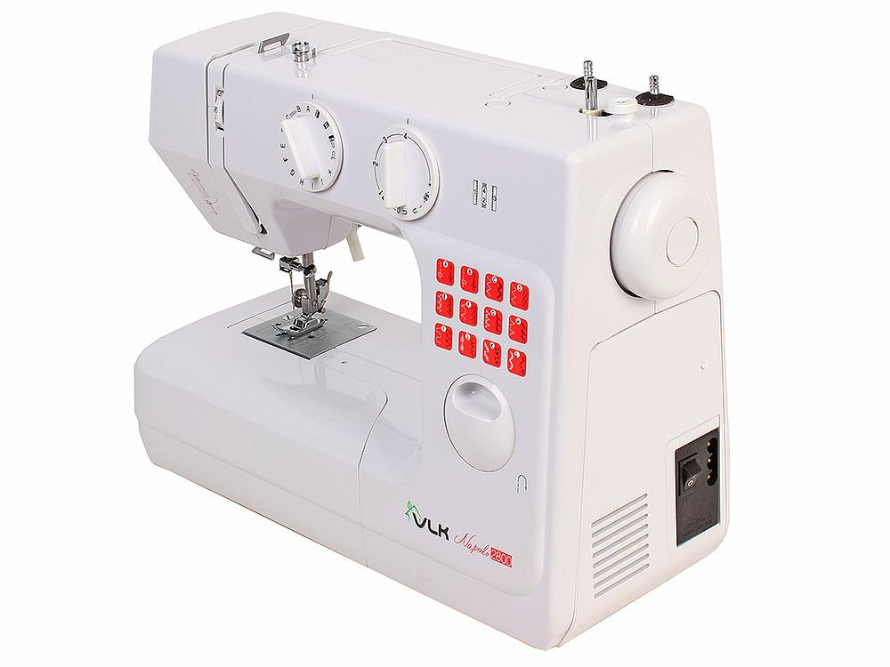 Швейная машина VLK Napoli 2800, белый, 750 стежков в минуту, 24 вида шва, 2 вида шва для 2й иглы, авт. Намотка шпульки