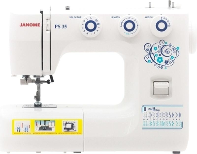 лучшая цена Швейная машина Janome PS-35 белый