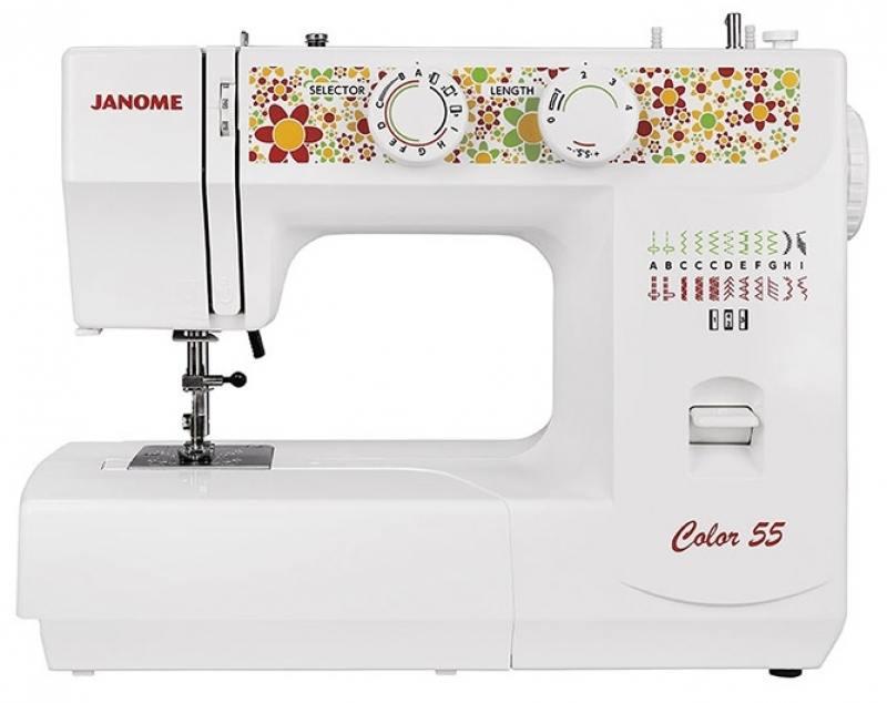 лучшая цена Швейная машина Janome Color 55 белый