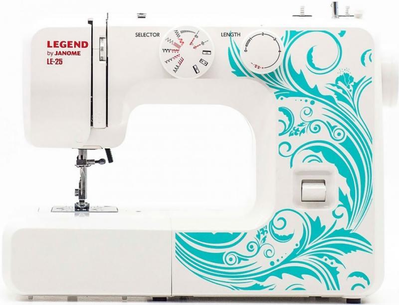 Швейная машина Janome LE25 белый швейная машинка janome dresscode