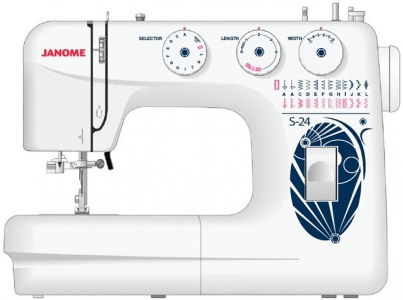 Швейная машина Janome S-24 белый швейная машинка janome dresscode