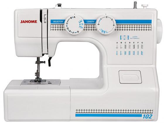 лучшая цена Швейная машина Janome 102 белый