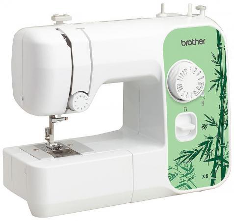 Швейная машина Brother X-8 белый/зеленый швейная машина brother vitrage m 77 4977766749640