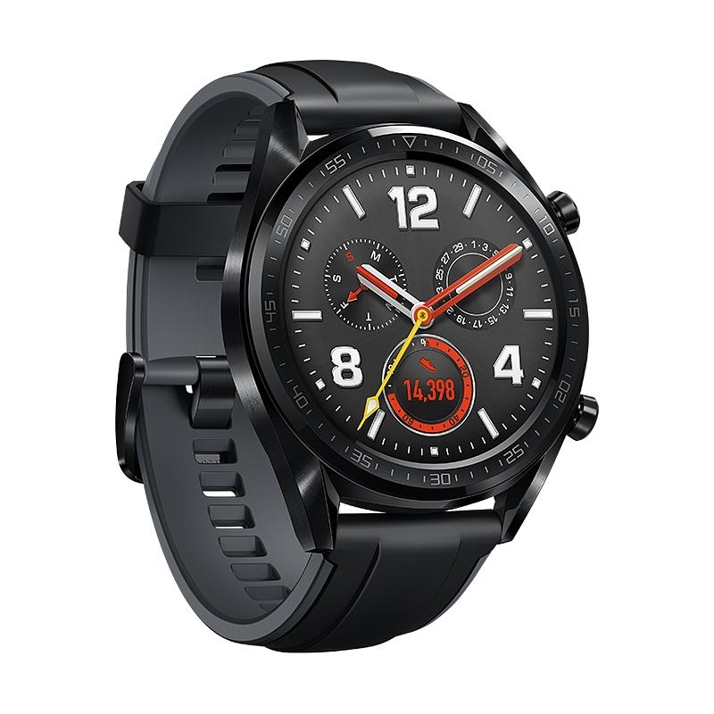 Смарт-часы Huawei Watch GT Black Silicone Strap/1.4 AMOLED/10.4 mm/кардио, спортиный, бассейн режимы/GPS, Glonass/водонепроницаемые z4 smart watch leather strap black