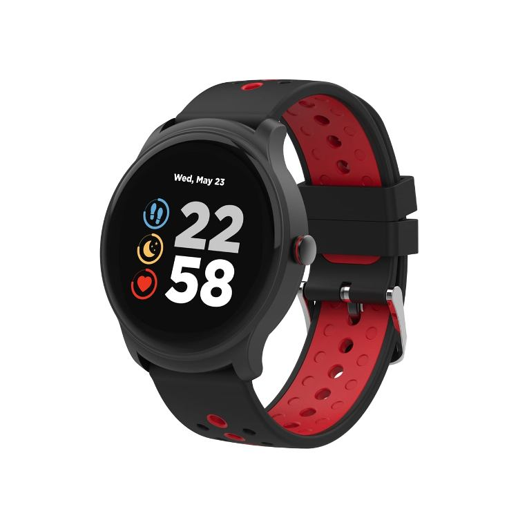 Умные часы Сanyon CNS-SW81BR 1.3inches IPS full touch screen, Alloy+plastic body,IP68 waterproof, multi-sport mode with swimming mode, compatibility with iOS and android,Black-Red with extra black bel volemer i7 s8 tws earbuds wireless bluetooth earphone sports headest with portable 2000 mah charging box for ios android phone