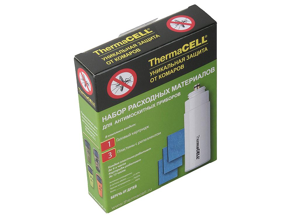 Набор запасной ThermaCell MR 000-12 (1 газовый картридж + 3 пластины) на 12 часов прогреваемые стельки со съемными аккумуляторами thermacell xxlarge