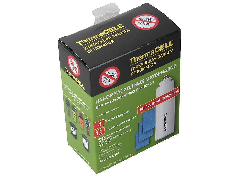Набор запасной ThermaCell MR 400-12 (4 газовых картриджа + 12 пластин) на 48 часов прогреваемые стельки со съемными аккумуляторами thermacell xxlarge