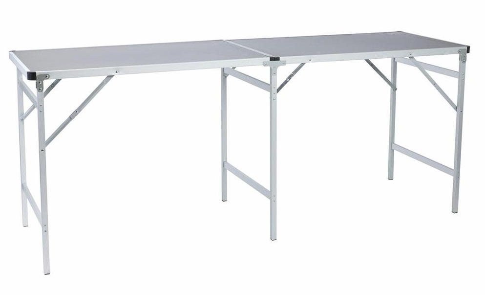 Стол походный Camping World Party Table Grey (цвет серый, размер 200*60*80 см, допустимая нагрузка 50кг) camp table portable foldable table home furniture camping beach picnic aluminium alloy