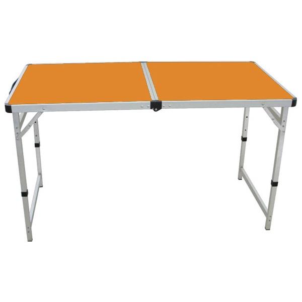 Стол походный Camping World Funny Table Orange (цвет оранжевый, чехол, допустимая нагрузка до 30 кг, размер 120х60х53/62/70 см)