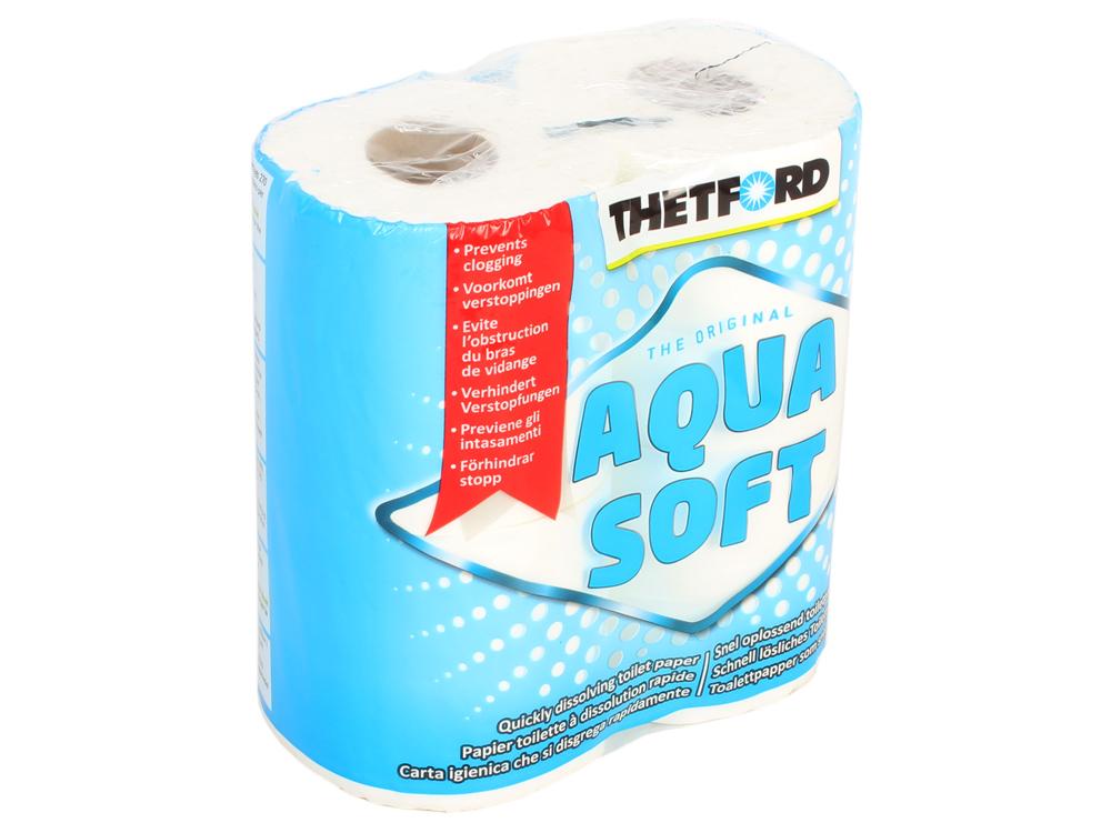 Бумага для биотуалета Thetford Aqua Soft (блок 4шт, растворимая, вес 0,7)
