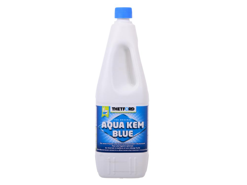 Жидкость для биотуалета Thetford Aqua Kem Blue (в нижний бак, синяя, объём 2л,ароматизирована, вес 2,3кг, вес 1,6, экологически чистая)