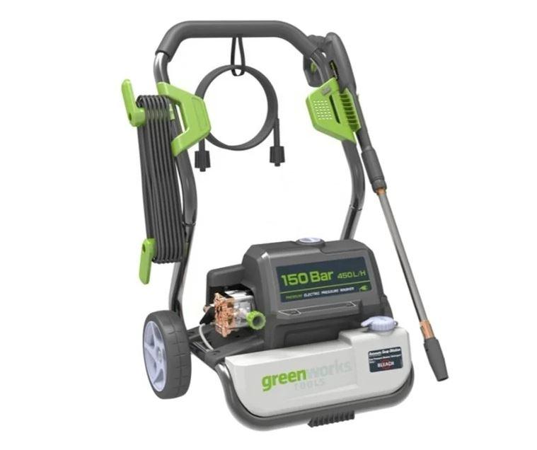 Мойка высокого давления Greenworks G7 2500 Вт, 150 Бар, 450 л/ч аппарат высокого давления посейдон e5 150 21 reel