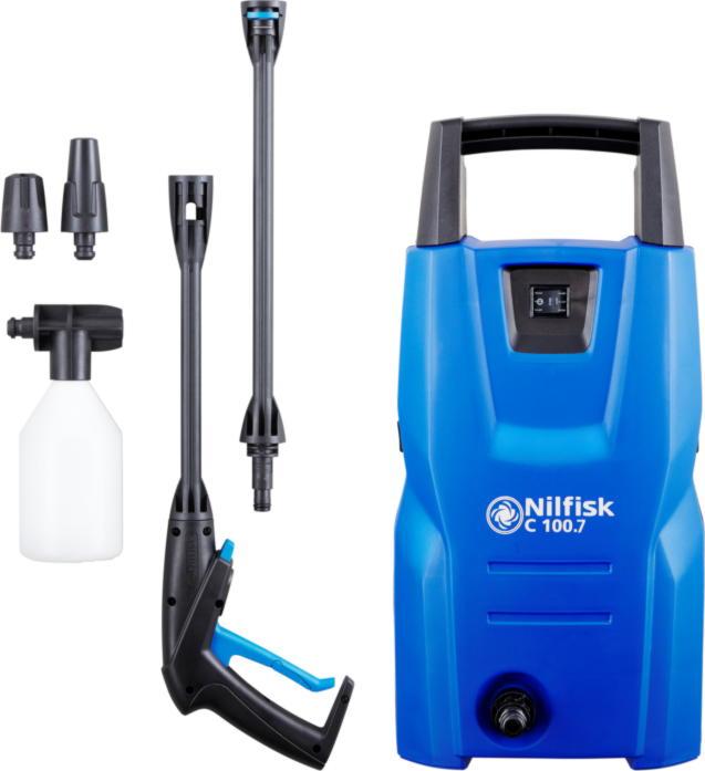 Минимойка Nilfisk C 100.7-5 (EU) 1300 Вт, 100 Бар, 440 л/ч минимойка лонгер форте c емкостью 20л