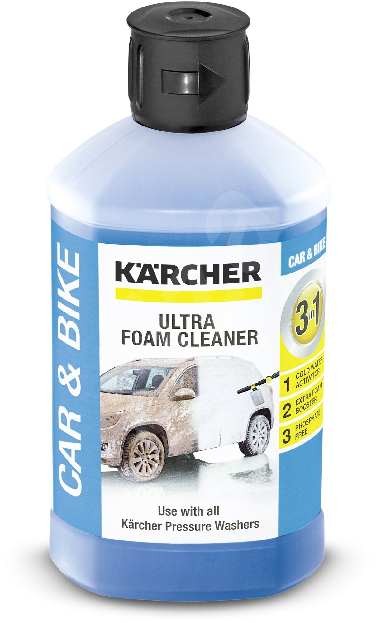 Аксессуар для моек Karcher, автошампунь, Ultra Foam Cleaner, моющее средство,1л
