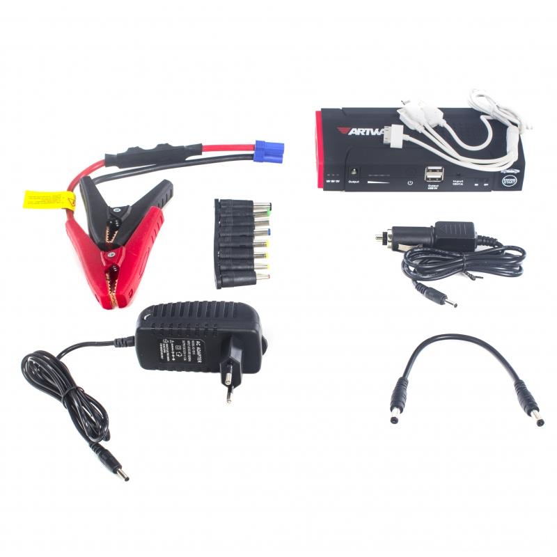 Пуско-зарядное устройство Artway JS-1014 3.5 А (DC-Out 19 В), 2 A (DC-Out 12 В или USB), 200 А (Пусковой ток; до 400 А - пиковая нагрузка) зарядное устройство для artway 905