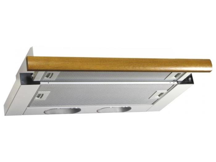 Вытяжка встраиваемая ELIKOR Интегра 60П-400-В2Л, Белый/Дуб коричневый