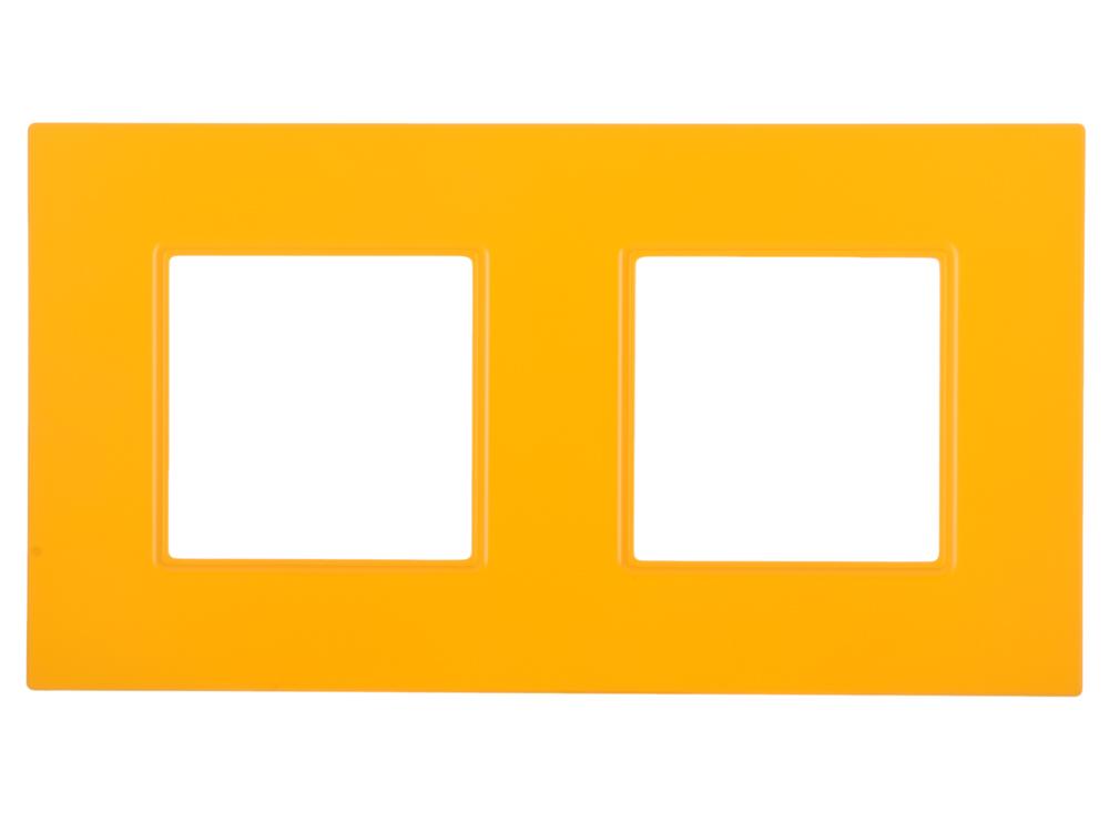Рамка UNICA QUADRO 2 поста оранжевый MGU4.704.29