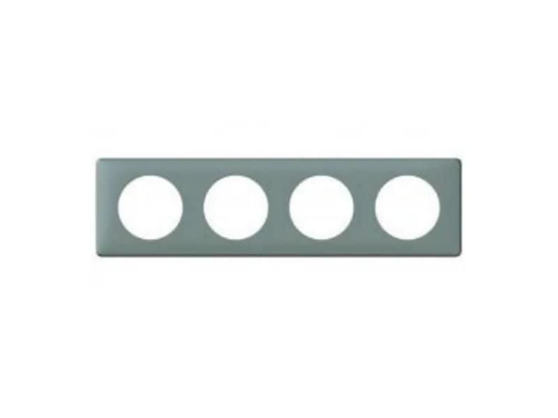 Рамка Legrand Celiane 4 поста 8 модулей серый 68744 цена