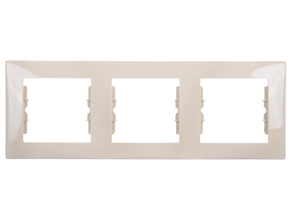 Рамка 3 пост бежевый Schneider Electric SDN5800547 цена