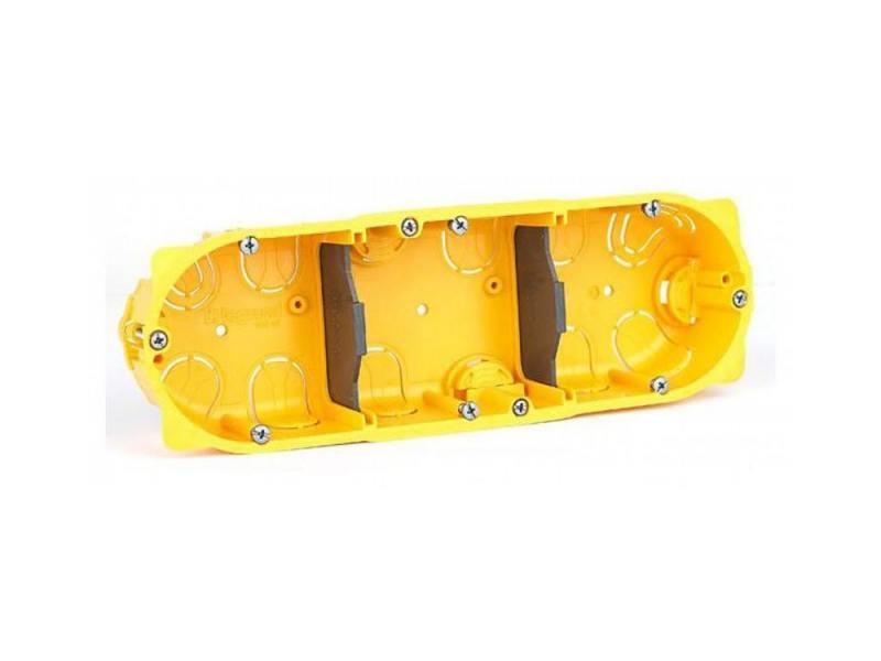 Картинка для Электромонтажная коробка Legrand Batibox для перегородок3 поста глубина 40мм 80043