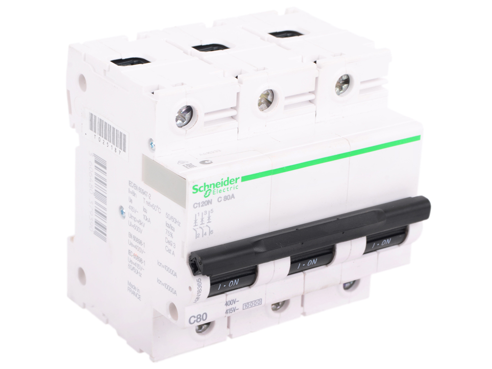 Автоматический выключатель Schneider Electric C120N 3П 80A C A9N18365 robert green ingersoll the works of robert g ingersoll v 11