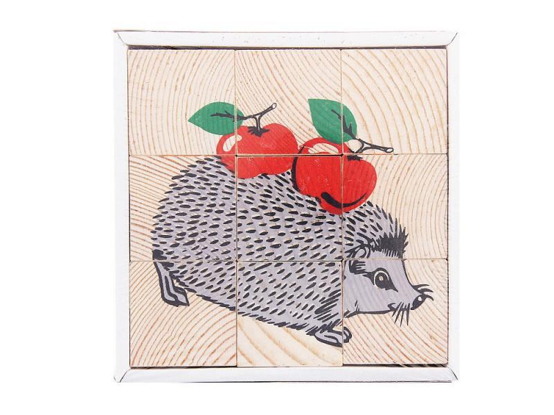 Кубики Томик Животные леса 9 шт 4444-4 цена