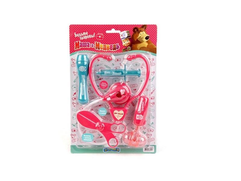Игровой набор Маша и медведь Доктор 5 предметов 1132129 1 toy детский игровой набор доктор арт т56708