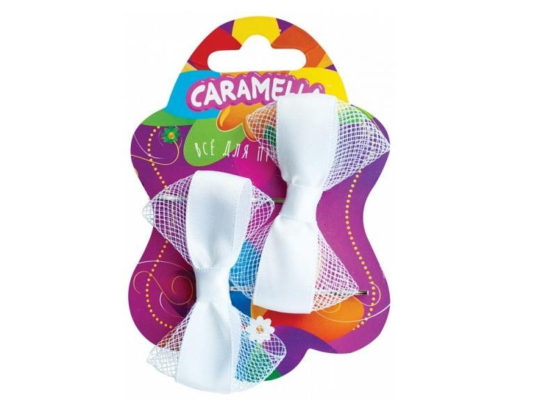 Набор украшений для волос Caramella Невидимки с бантиками 2 шт белый 26578 невидимка для волос funny bunny розовые цветы 2 шт