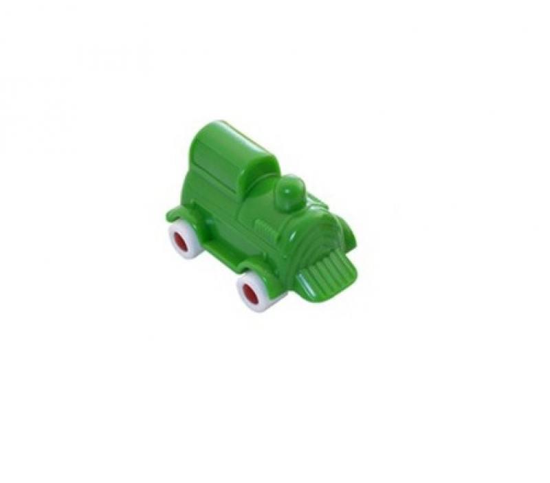 Мини-машина Miniland Локомотив, 9 см. зеленый 27501 цена