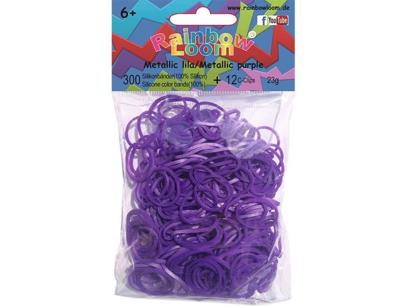 Резинки для плетения Rainbow Loom Силикон Металлик/Фиолетовый 20327 300 шт цены онлайн