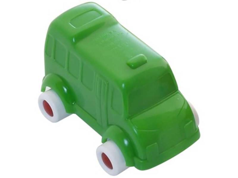 Мини-машинка Miniland Автобус, 9 см. зеленый 27505 цена