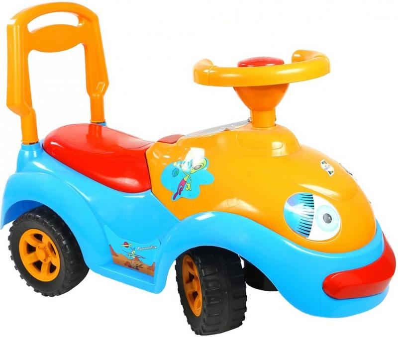 Каталка-машинка Rich Toys Луноходик пластик от 10 месяцев музыкальная синий ОР119 stellar игрушка каталка машинка цвет синий
