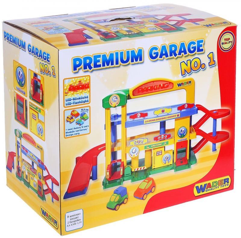 Купить Паркинг Гараж №1 ПРЕМИУМ с автомобилями 40398, Wader, Игрушки