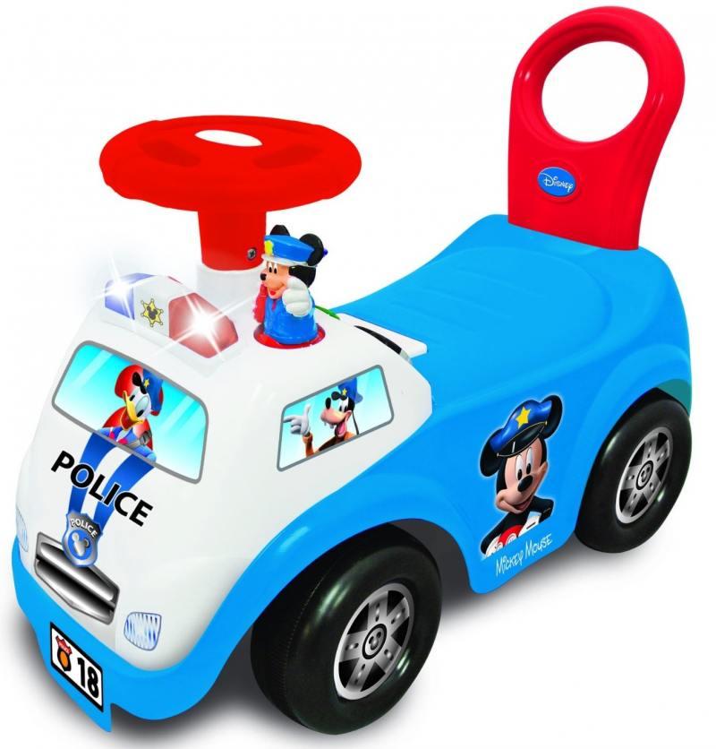 Каталка-пушкар Kiddieland Полицейская машина Микки Мауса пластик от 1 года музыкальная синий каталка машинка r toys bentley пластик от 1 года музыкальная красный 326