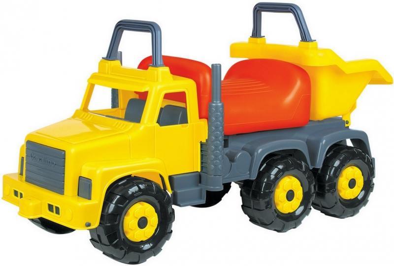 Каталка-машинка Cavallino Супергигант-2 пластик от 2 лет на колесах желтый 7889 каталка полесье пони пластик от 3 лет на колесах белый 53534