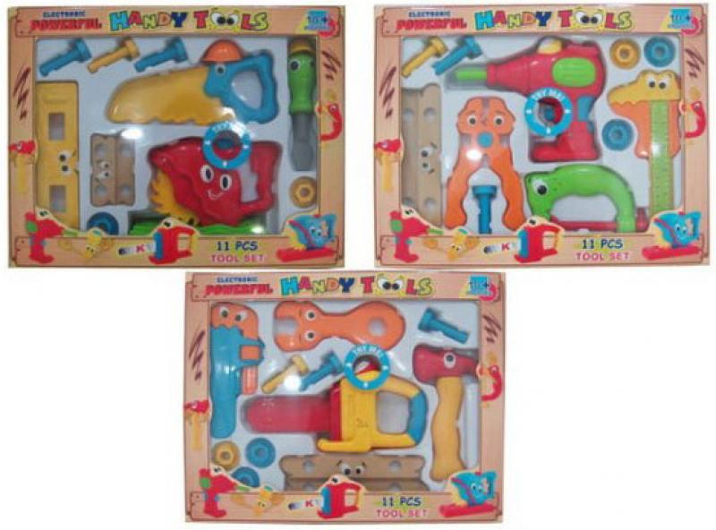 Набор инструментов Shantou Gepai Веселый плотник, 11 предм., в ассорт.10019ABC набор для тв ва топиарий малый тюльпаны в ассорт