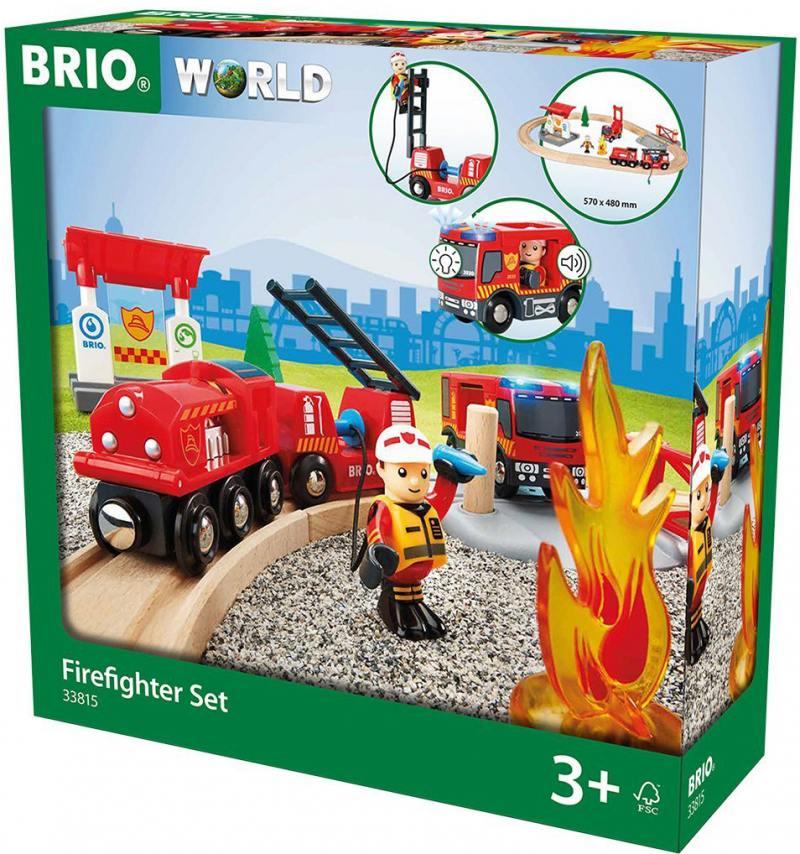 Игровой набор Brio Пожарная станция,свет,звук,18 предметов игровой набор brio детская площадка 4 предмета