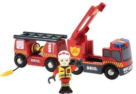 Игровой набор Brio пожарная машина,свет,звук,выдвижн.лестница,закруч.шланг цена