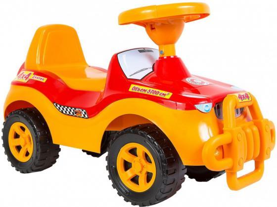 Каталка-машинка R-Toys ОР105к пластик от 8 месяцев с клаксоном желтый каталка машинка r toys bentley пластик от 1 года музыкальная красный 326