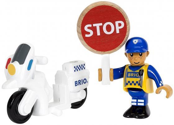 """Набор Brio """"Полицейский мотоцикл"""" с 3-х лет 3 элемента"""