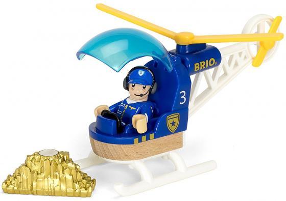 Игровой набор Brio Полицейский вертолет,3 эл.,19х9х13см,кор. игровой набор brio детская площадка 4 предмета
