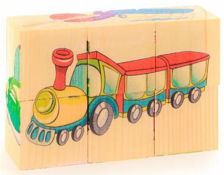 Кубики Русские деревянные игрушки Транспорт 6 шт. Д488а музыкальные игрушки meinl маракасы деревянные nino7pd b