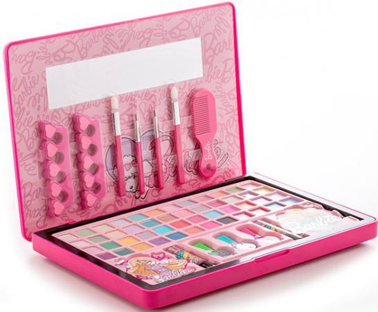 Игровой набор детской декоративной косметики Markwins Barbie в кейсе (большой) 20 предметов 9601151 markwins princess игровой набор детской декоративной косметики для ногтей