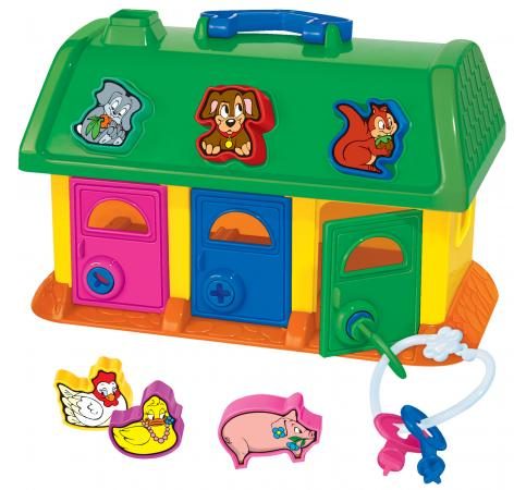 Купить Сортер Полесье Логический домик для зверей 9166, Игрушки
