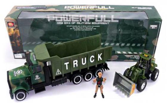 Трактор Shantou Gepai Военный трак с трактором 3 шт 70 см зеленый ZL668-A18 набор shantou gepai 100879413 желтый 3 шт 29 4 см