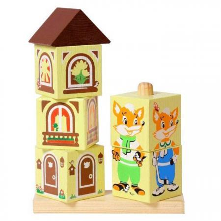 Кубики Томик Лисенок 4545-1 6 шт кубики русские деревянные игрушки транспорт 6 шт д488а